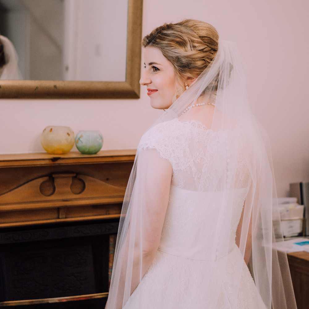 Love that moment when my bride smiles because she loves the way she looks x  www.cocobellabride.com - Make Me Bridal Artist: Coco Bella Bride.