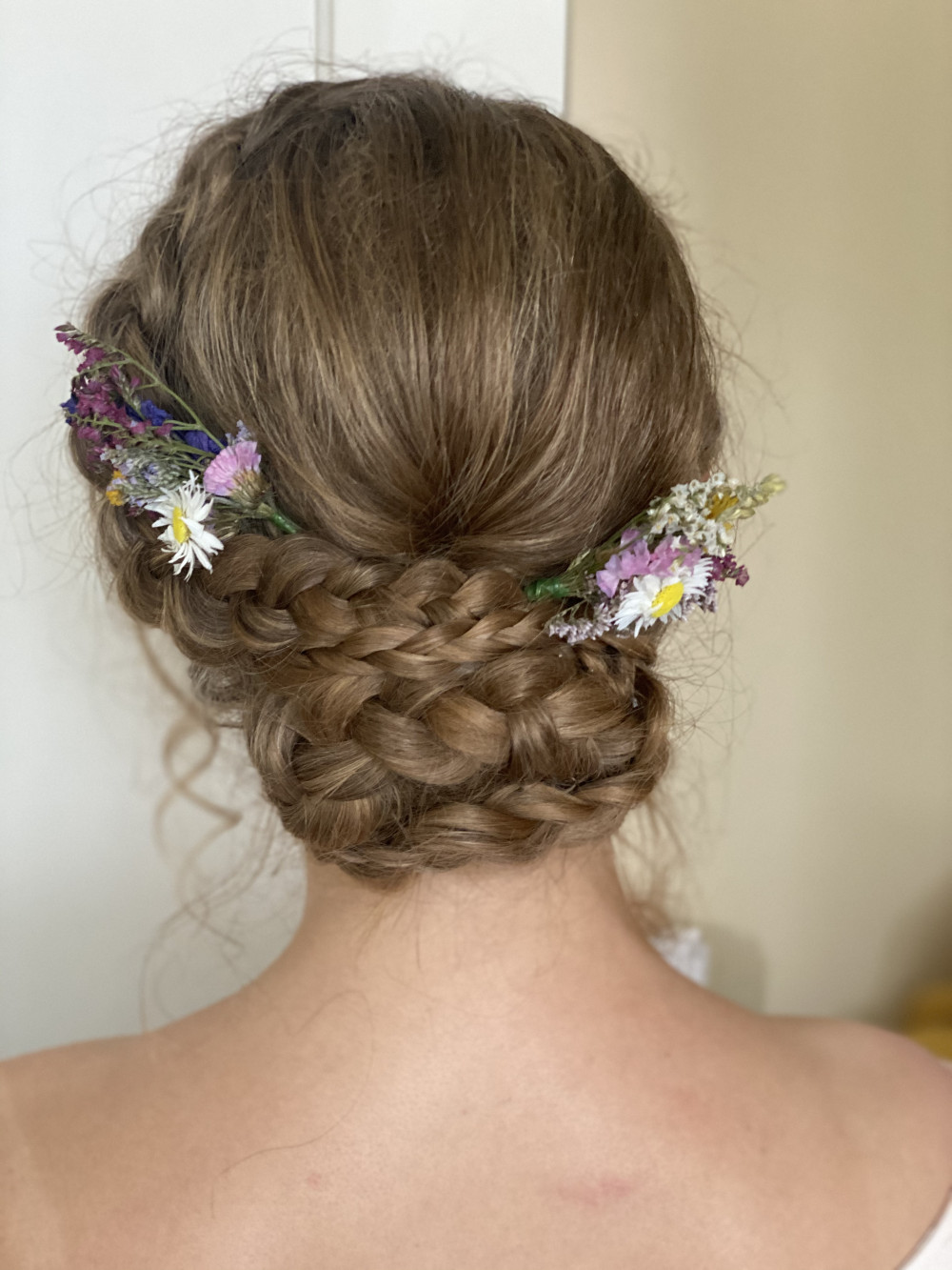 Braided boho hair up - Make Me Bridal Artist: RLM wedding makeup. Photography by: Rebecca Louise Middleton. #bohohair