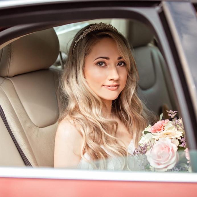 Beautiful Alice , lose waves , soft glam makeup - Make Me Bridal Artist: RLM wedding makeup. #glamorous