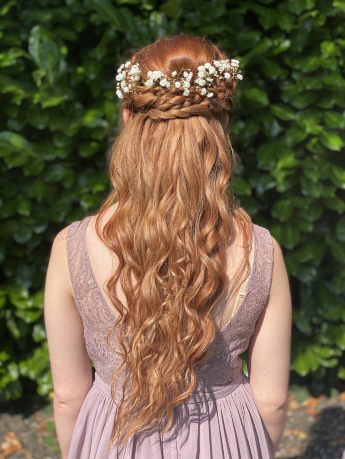 Boho braided curled hair :) - Make Me Bridal Artist: RLM wedding makeup. Photography by: Me. #bohemian