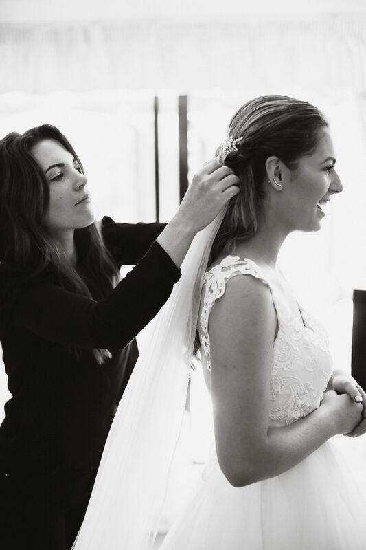 - Make Me Bridal Artist: The artful hairstylist . Photography by: Tom and Lizzie . #classic #glamorous #weddingmorning
