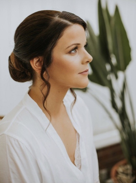 Classic low chignon bridal hair - Make Me Bridal Artist: Wedding hair by marie. Photography by: Lily lane photography. #classic #vintage #glamorous #weddingmorning #bridalhair #updo #chignon #hairup