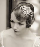 This 1920's finger wave is a classic Downtown Abby hairstyle - Make Me Bridal Artist: Kreative Hairdressing . Photography by: Richard Milner . #classic #1920s
