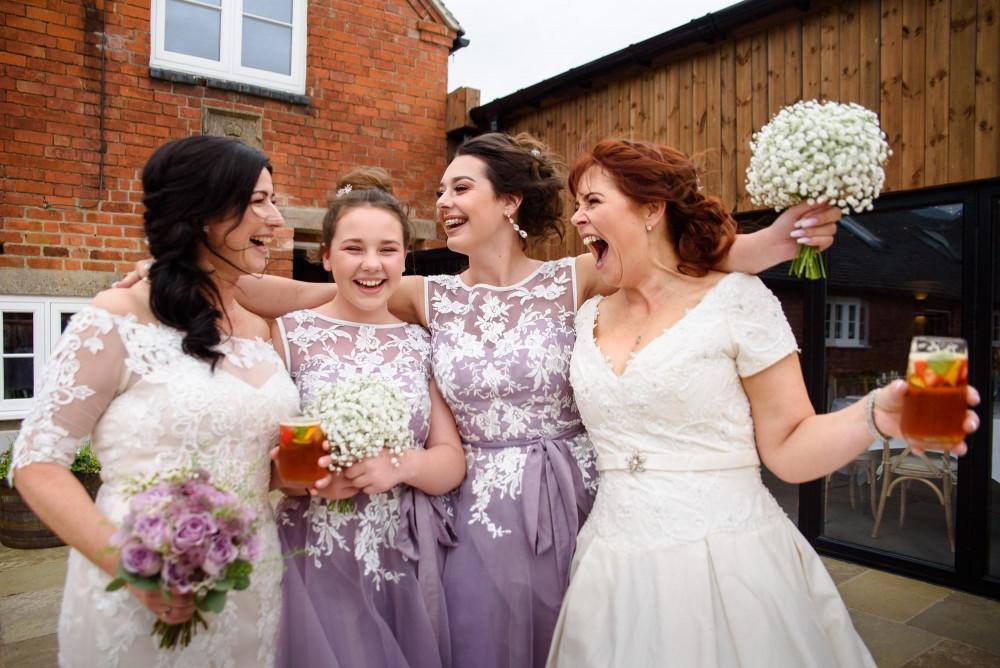 Two Brides Two Bridesmaids - pure joy and ALL the fun!!! ? - Make Me Bridal Artist: Makeup by Fi Farrelly. Photography by: Thomas de Mol Photography. #naturalmakeup #nars