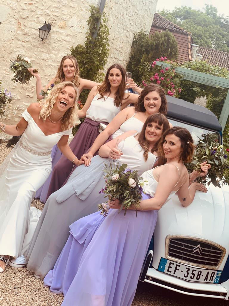 Super cool Bride Tribe hanging out in the French countryside ?? - Make Me Bridal Artist: Makeup by Fi Farrelly. Photography by: Makeup by Fi Farrelly. #weddinghairandmakeup #frenchwedding #bridetribe