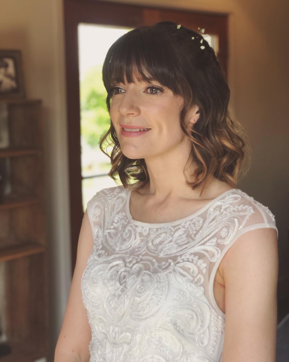 - Make Me Bridal Artist: Justine's Hair & Makeup. #classic #naturalmakeup #curls #bridalmakeup