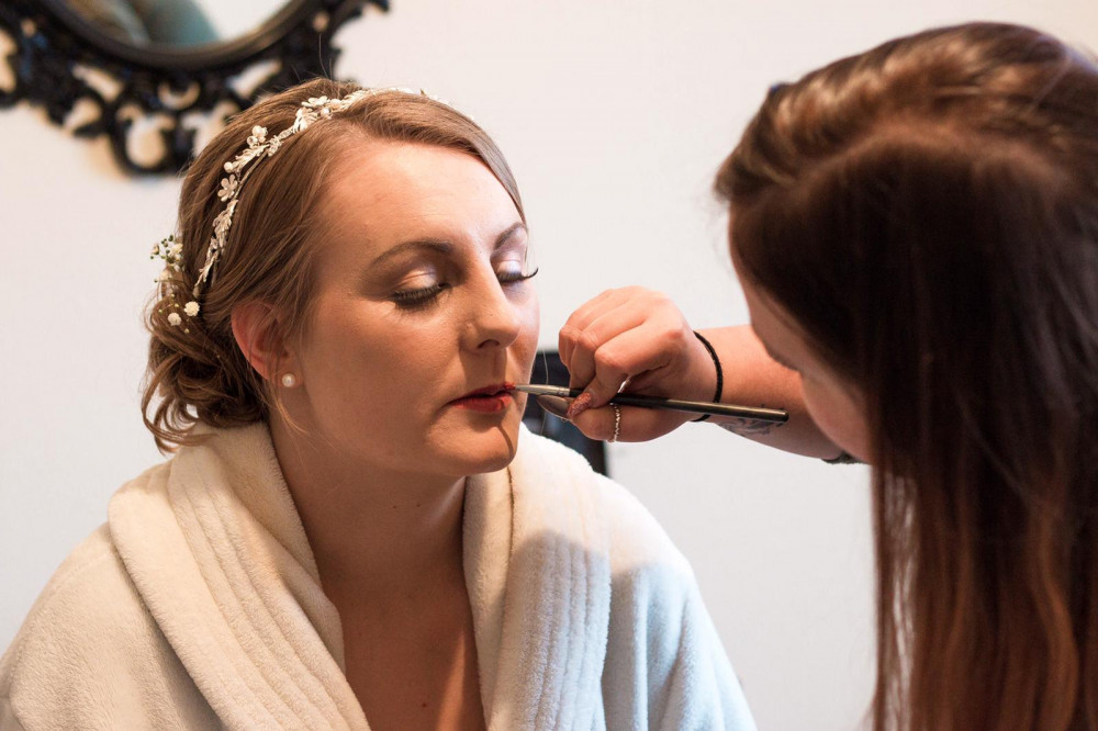 - Make Me Bridal Artist: Justine's Hair & Makeup. #glamorous #weddingmorning #gettingready #bridalmakeup #meatwork #prep