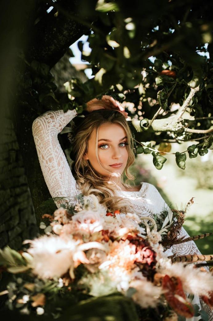 Boho Bridal look - Make Me Bridal Artist: Charlotte Mallinder Professional Makeup Artist. #boho #flowercrown #bohobride