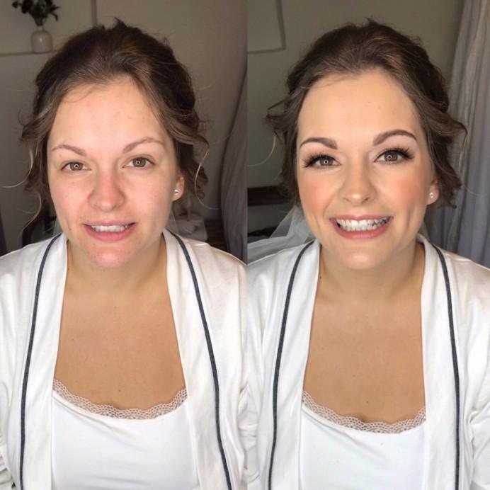 Classic Bridal makeup by Charlotte Mallinder professional makeup artist - Make Me Bridal Artist: Charlotte Mallinder Professional Makeup Artist. #beforeandafter #naturalbridalmakeup #bridemakeup