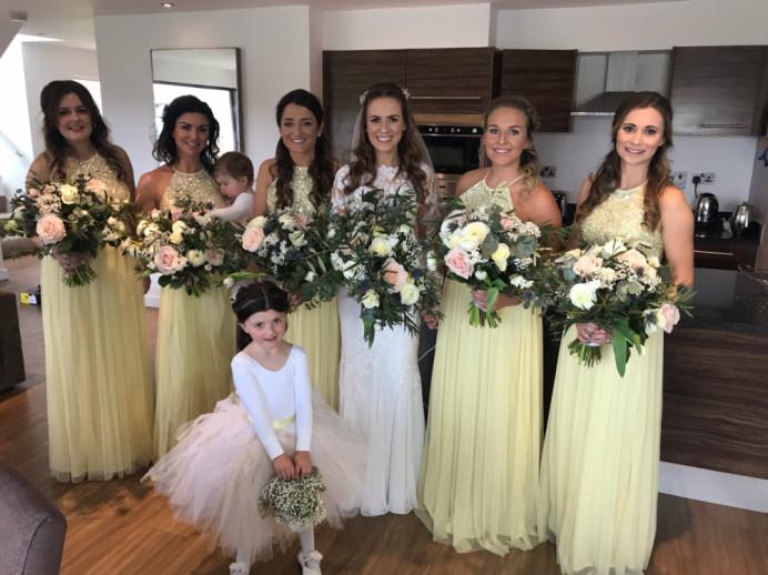 Beautiful Bridal party, makeup by Charlotte Mallinder professional makeup artist - Make Me Bridal Artist: Charlotte Mallinder Professional Makeup Artist. #bridalmakeup #bridalparty #bridetobe2019