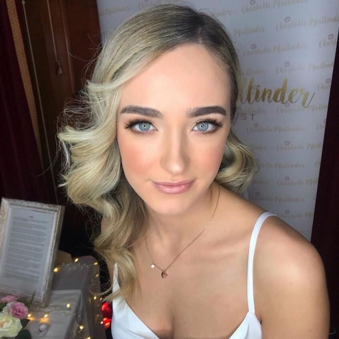 Bride Glam makeup by Charlotte Mallinder Professional makeup artist - Make Me Bridal Artist: Charlotte Mallinder Professional Makeup Artist. #soft #bridalmakeup #glam
