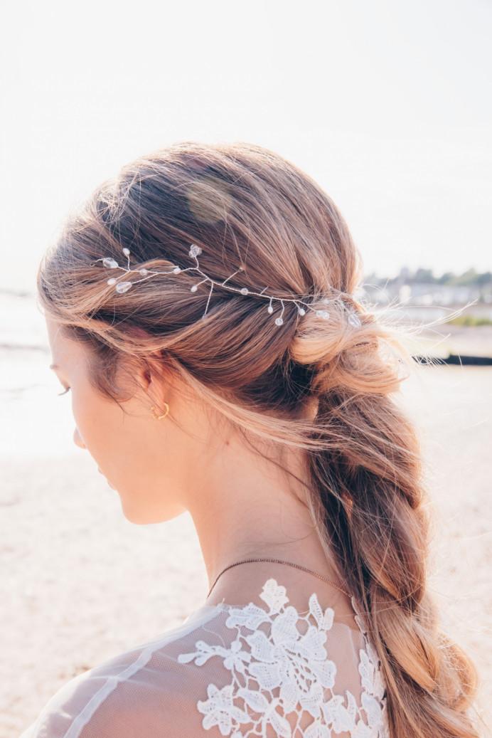 - Make Me Bridal Artist: Vicky Jiggens Makeup Artist. Photography by: Gemma Randall. #bohemian #braid #bohohair #beachwedding #braidedhair
