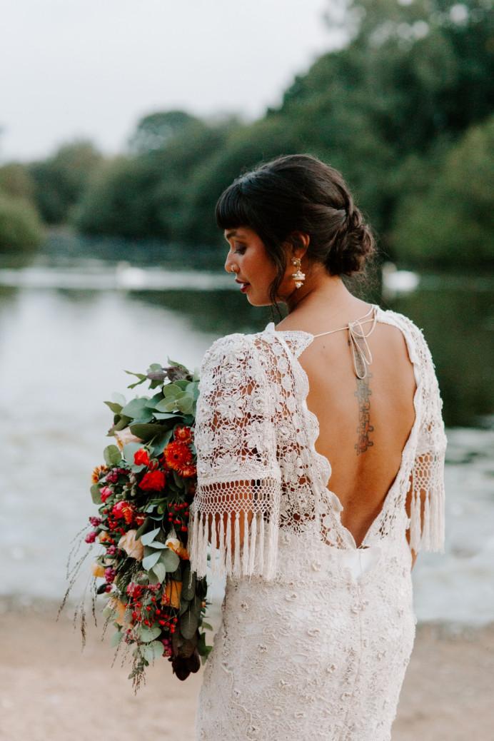 - Make Me Bridal Artist: Vicky Jiggens Makeup Artist. Photography by: Caroline Opacic. #updo #lowbun #bohohair #bridalupdo #texturedupdo