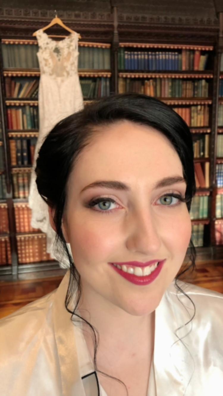 - Make Me Bridal Artist: Rebecca Haines Makeup and Hair. Photography by: me. #bridalmakeup #weddingmakeupartist #stronglip #hanburyhall