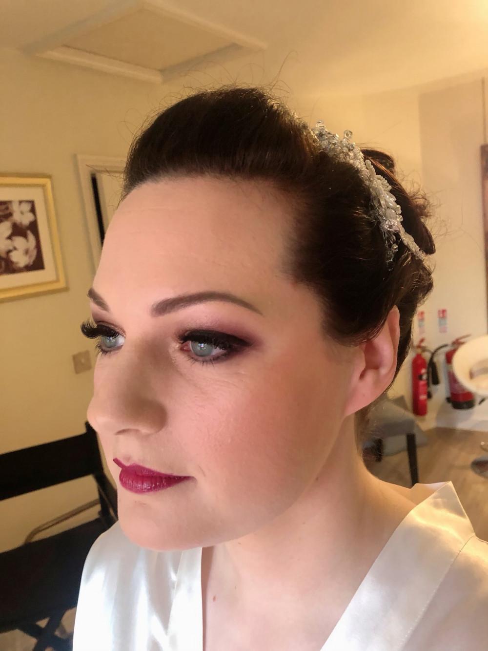 Bridal hair & makeup at Manor by the lake. - Make Me Bridal Artist: Rebecca Haines Makeup and Hair. Photography by: me. #weddinghairandmakeup #weddingmakeup #weddingmakeupartist #weddinghairstylist #manorbythelake #cheltenhamwedding