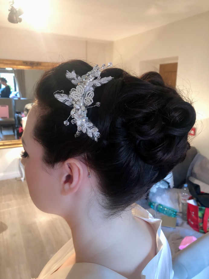 - Make Me Bridal Artist: Rebecca Haines Makeup and Hair. Photography by: me. #weddinghairandmakeup #weddinghairstylist #cheltenhamwedding
