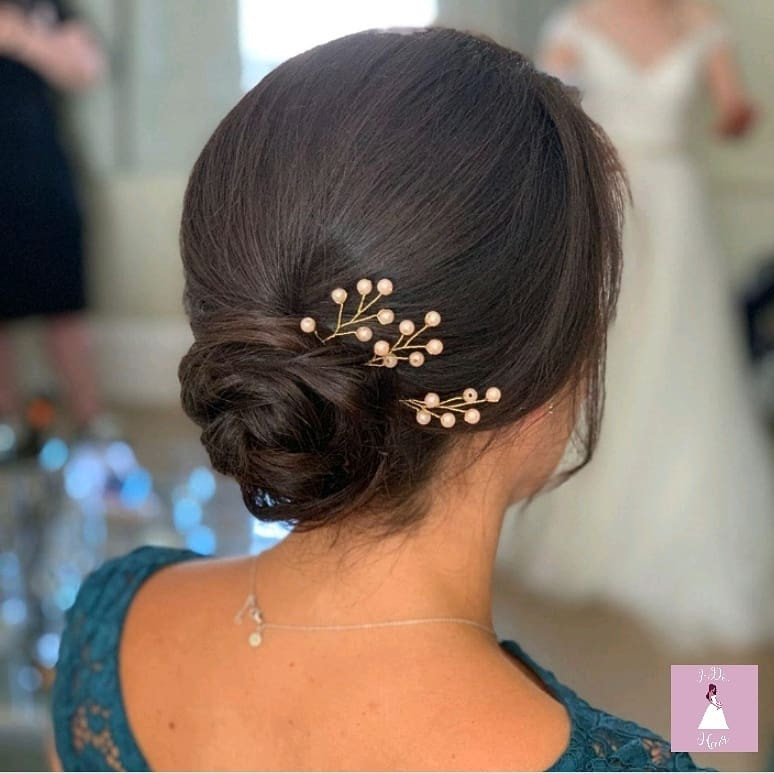 Soft Chignon for Bridesmaids in Surrey - Make Me Bridal Artist: I-Do Hair by Georgia.