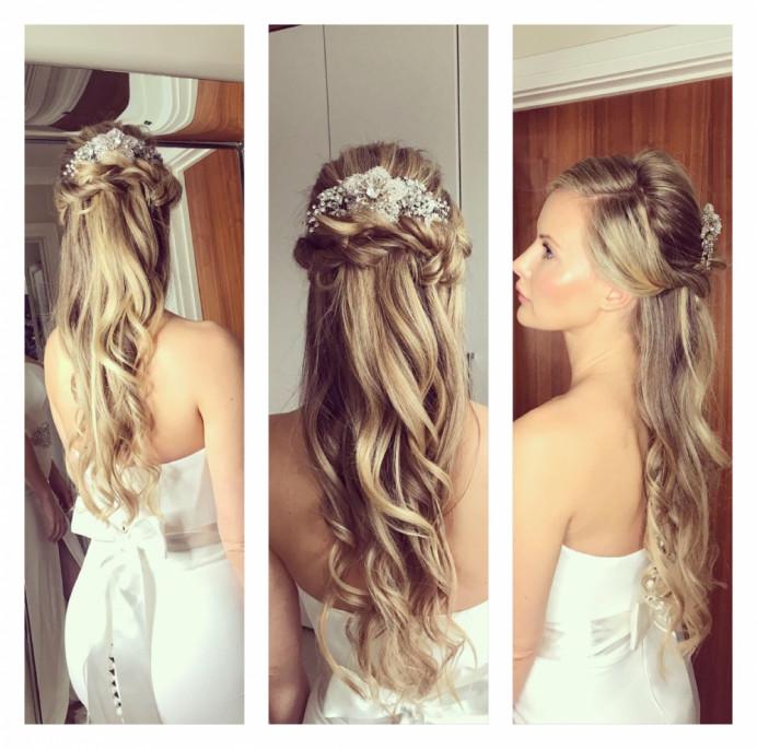 - Make Me Bridal Artist: Bouffants and Braids. #glamorous #halfuphair #curls #blonde #soft