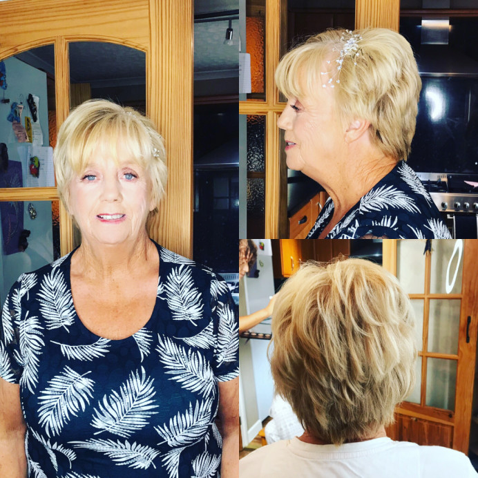 - Make Me Bridal Artist: Bouffants and Braids. #motherofthebride #shorthair #hairaccessories