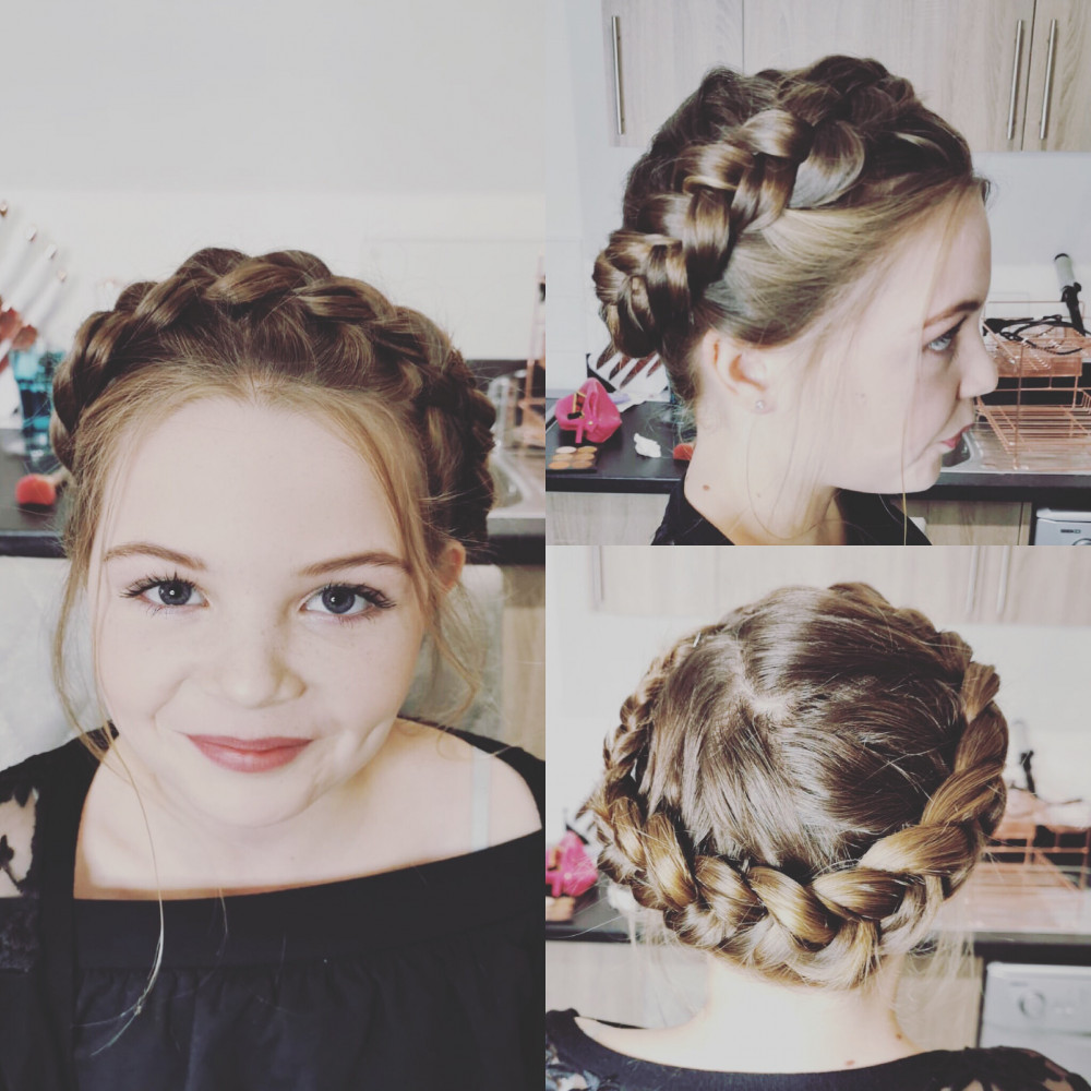 - Make Me Bridal Artist: Bouffants and Braids. #bridesmaidhair #halobraid #flowergirlhair
