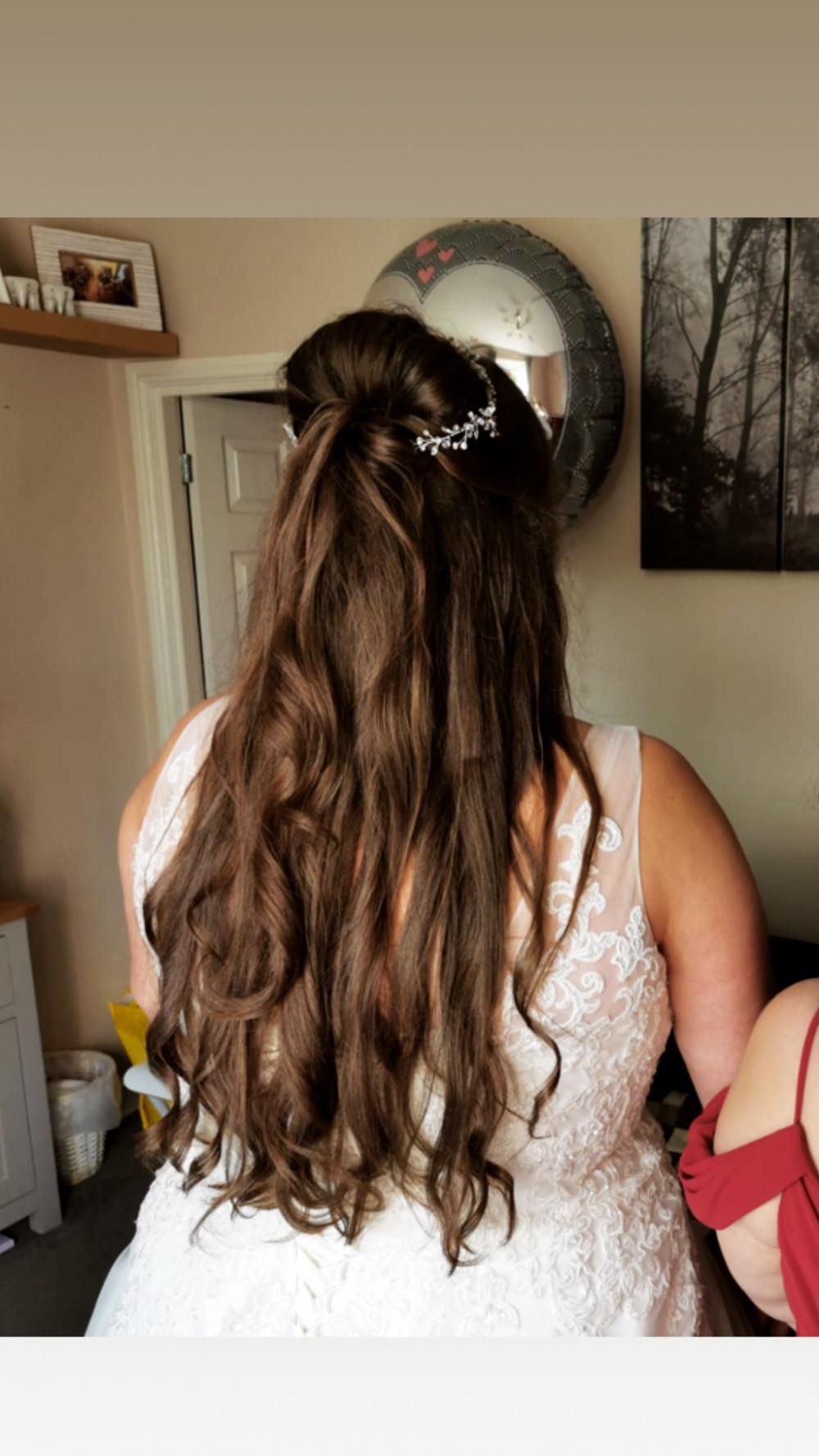 - Make Me Bridal Artist: Bouffants and Braids. #brunette #bride #longhair #hairvine