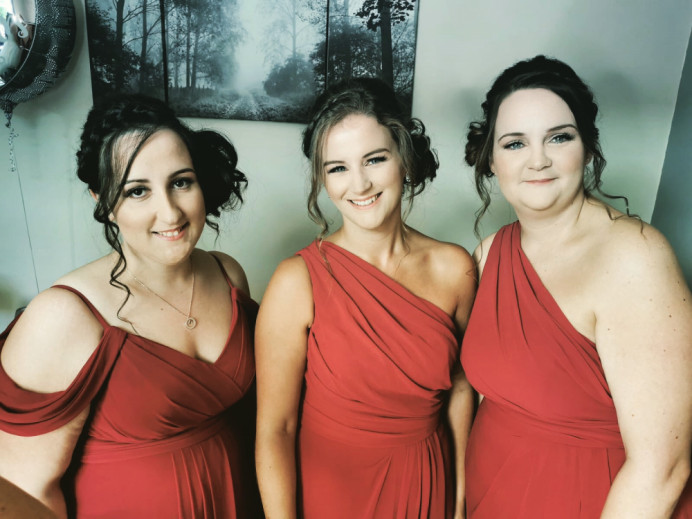 - Make Me Bridal Artist: Bouffants and Braids. #bridesmaidhair #updo