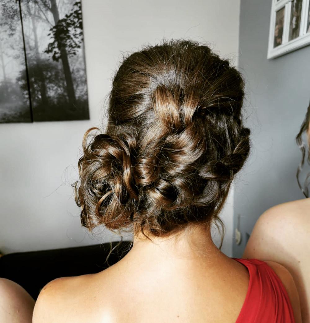 - Make Me Bridal Artist: Bouffants and Braids. #curls #bridesmaidhair #braidedupdo