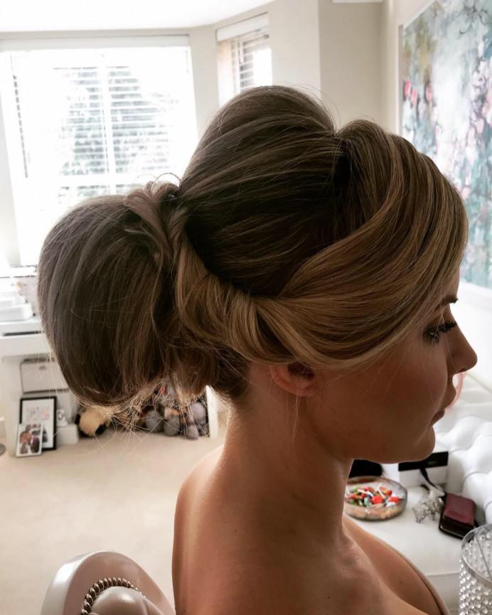 - Make Me Bridal Artist: Bouffants and Braids. #classic #bridalhair #chignon #sleek #classyhair #classybride