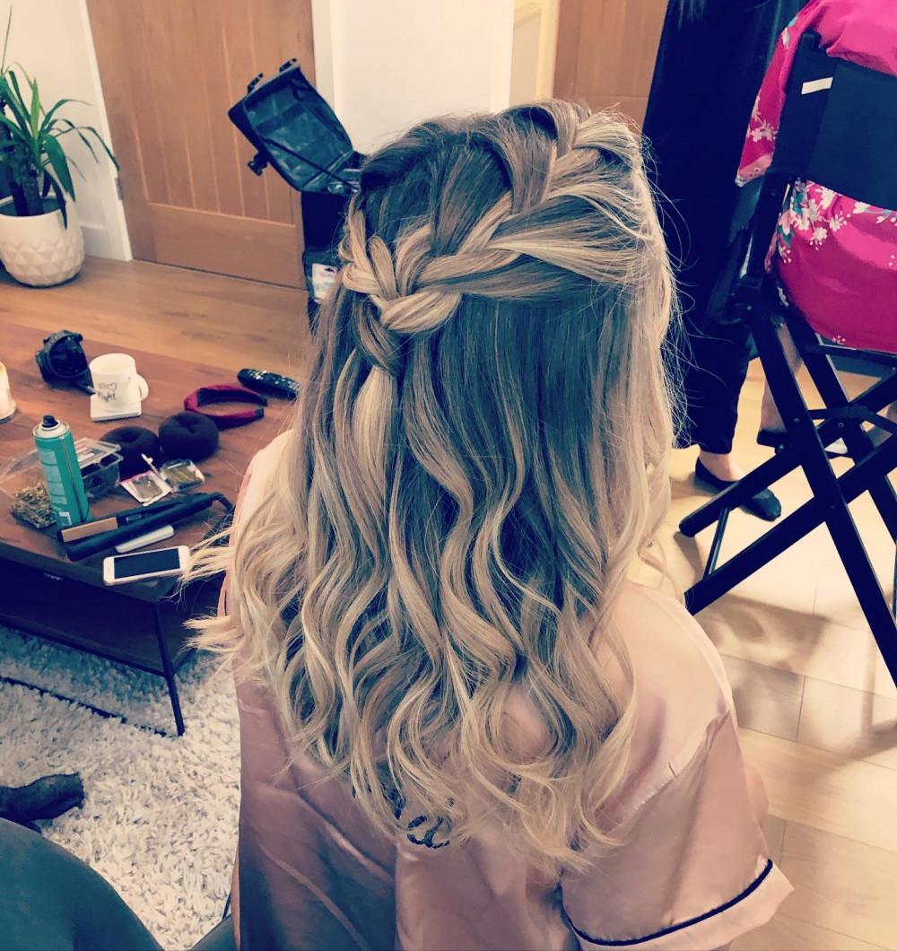 - Make Me Bridal Artist: Hair by Hayley.