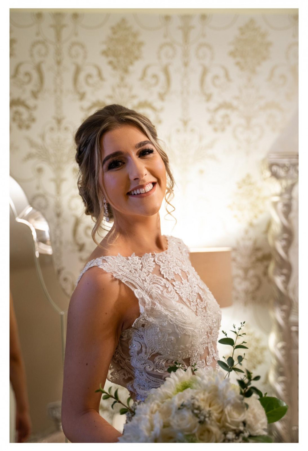 Amy on her wedding day. Stunning! - Make Me Bridal Artist: Joanne Lucas Makeup Artistry. #classic #glamorous