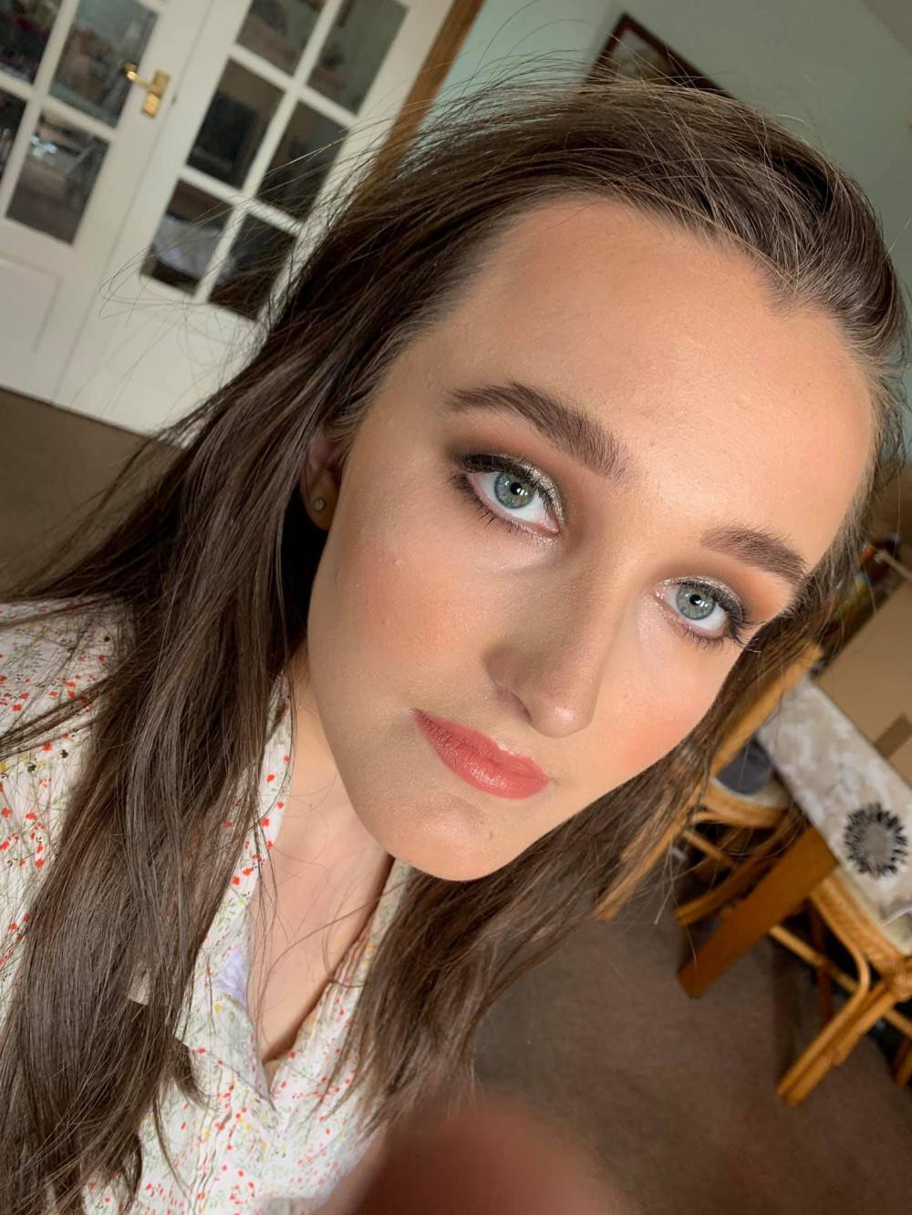 - Make Me Bridal Artist: Eloise Amy - Pro Makeup Artist. #glamorous #glow #blueeyes #cutcreasemakeup #brownhair #greyeyes #silver