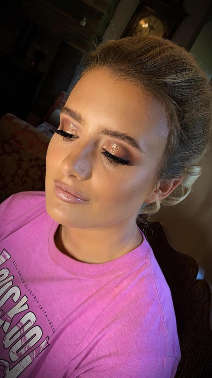 - Make Me Bridal Artist: Eloise Amy - Pro Makeup Artist. #blonde #bridalmakeup #bridesmaidhair #bridesmaid #pinklipstick #sparklewedding #blush #softpink #blondehair