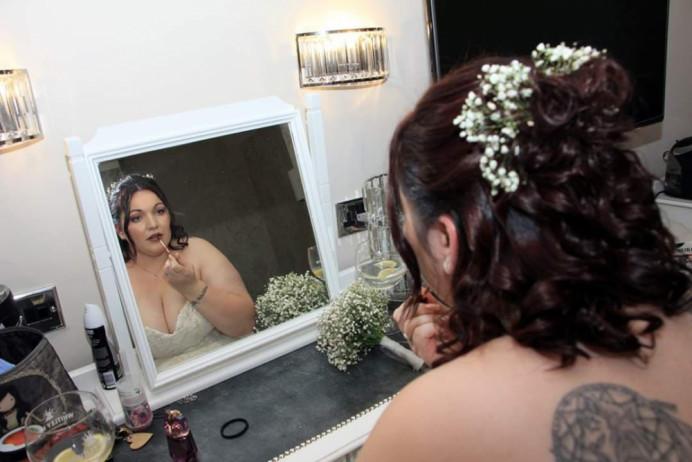 - Make Me Bridal Artist: Eloise Amy - Pro Makeup Artist. #classic #curls #bridalmakeup #darklips #alternative #curlyupdo #lipstick