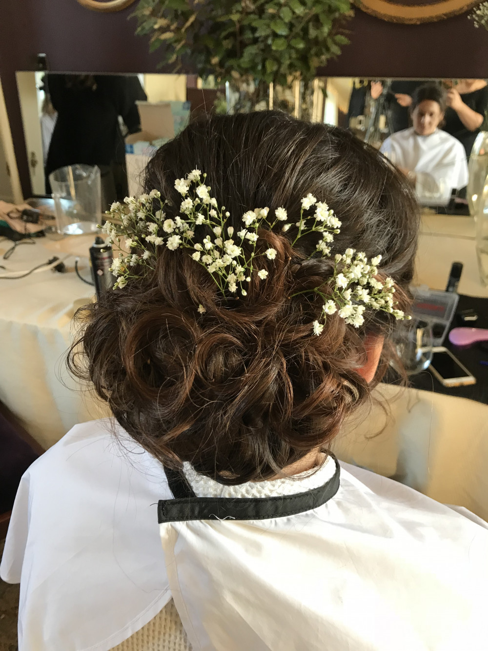 Beautiful Updo for one of the bridesmaids :) Much more of my work is here  https://m.facebook.com/katrinmua/ - Make Me Bridal Artist: Makeup and Hair by Katrina.
