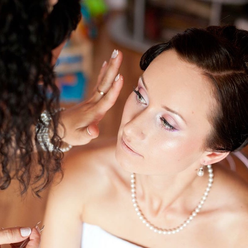 One of my gorgeous brides . Much more of my work is here  https://m.facebook.com/katrinmua/ - Make Me Bridal Artist: Makeup and Hair by Katrina.