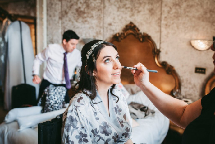 Me in action! - Make Me Bridal Artist: Glamorama Makeup. Photography by: Rachel Clarke. #classic #glamorous