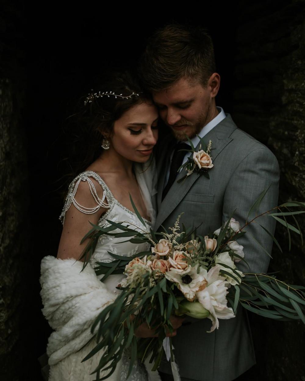 Ashley & Keith's Shell Grotto Wedding at Hotel Endsleigh - Make Me Bridal Artist: Amy Potter Makeup Artist. Photography by: Enchanted Brides. #vintage #glamorous #curls #weddingmorning #bridalmakeup #rustic #relaxedupdo #elopement #runawaywithme #weddinginspo #cornishbrides #intimatewedding #cornwallsmakeupartist #cornishmakeupartist