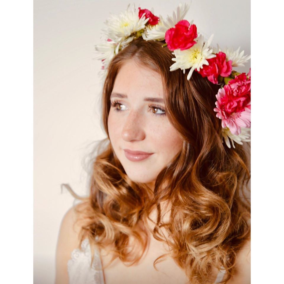 Big, curly blow dry with pin curls to create big hair for your big day! I even made the flower crown myself, so easy! - Make Me Bridal Artist: Linda Loves Hair. #glamorous