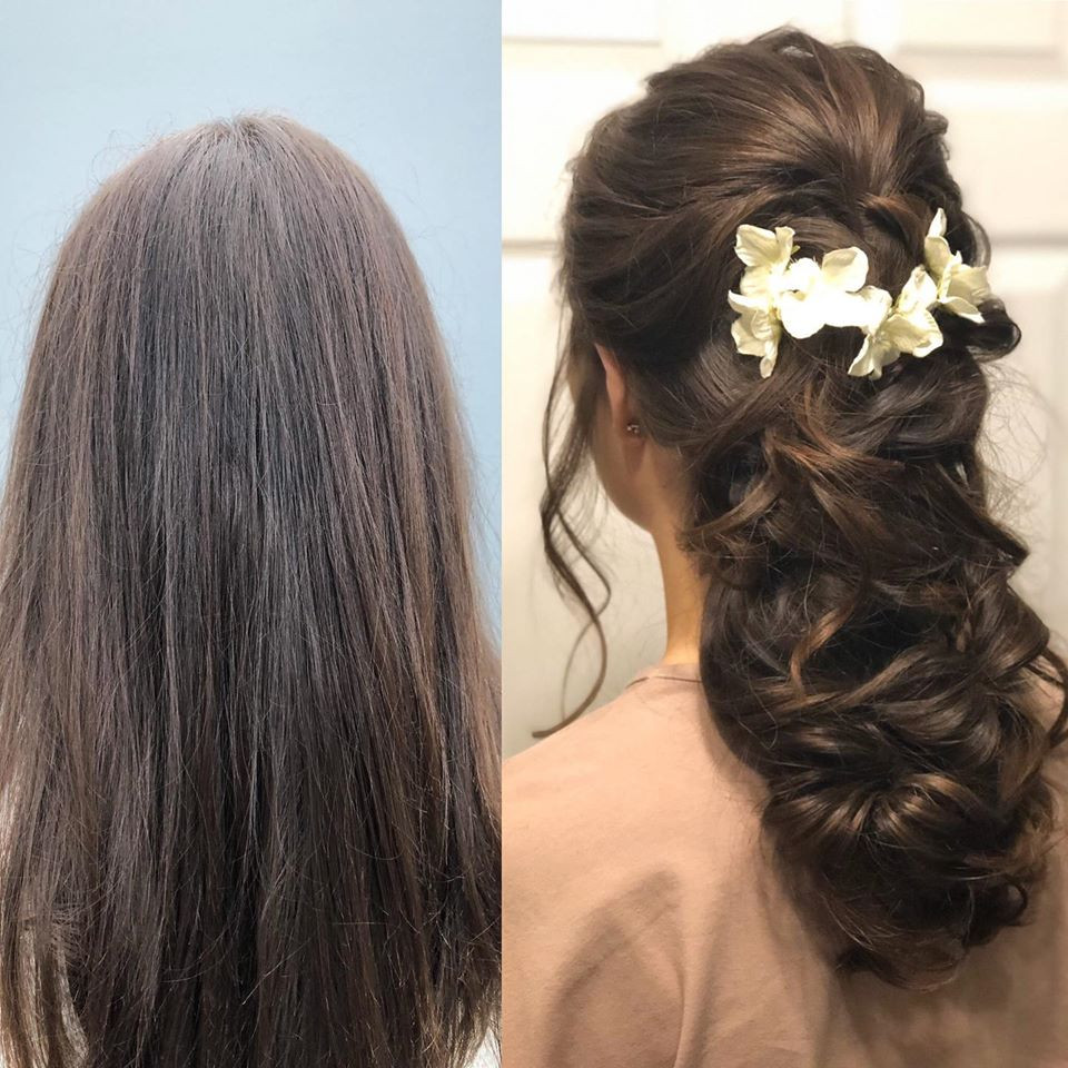 A lovely half up/ half down style. Secured with elastics at the back so there's no way it's going to drop out during you wedding day! - Make Me Bridal Artist: Linda Loves Hair. #glamorous #boho