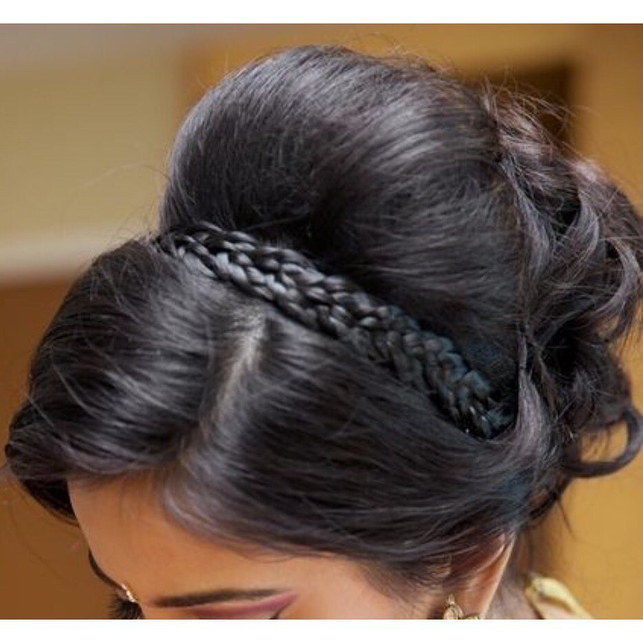 Lots of backcombing and the use of hair padding is used to create this hairstyle. - Make Me Bridal Artist: Linda Loves Hair. #glamorous #bouffant