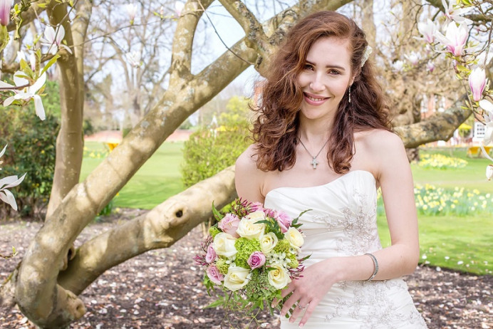 Makeup only done by myself :) - Make Me Bridal Artist: Brush Technik. #weddingmakeup #oxfordwedding