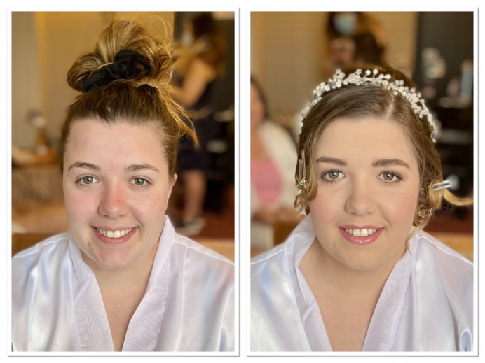 Natural enhancing bridal make up - Make Me Bridal Artist: Kelli Waldock Make Up Artist. #classic #glamorous #naturalmakeup #bridalmakeup #flawlessmakeup