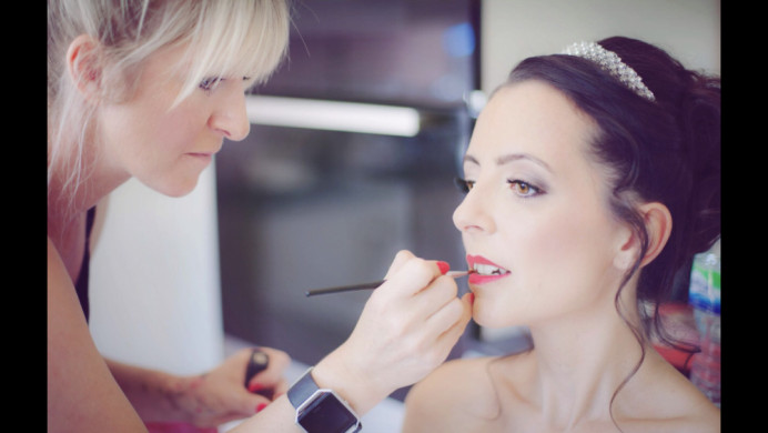 - Make Me Bridal Artist: Kelli Waldock Make Up Artist. Photography by: Irma-Jane Photography. #classic #glamorous #gettingready #bridalmakeup #meatwork #airbrushedmakeup #lashes #redlips