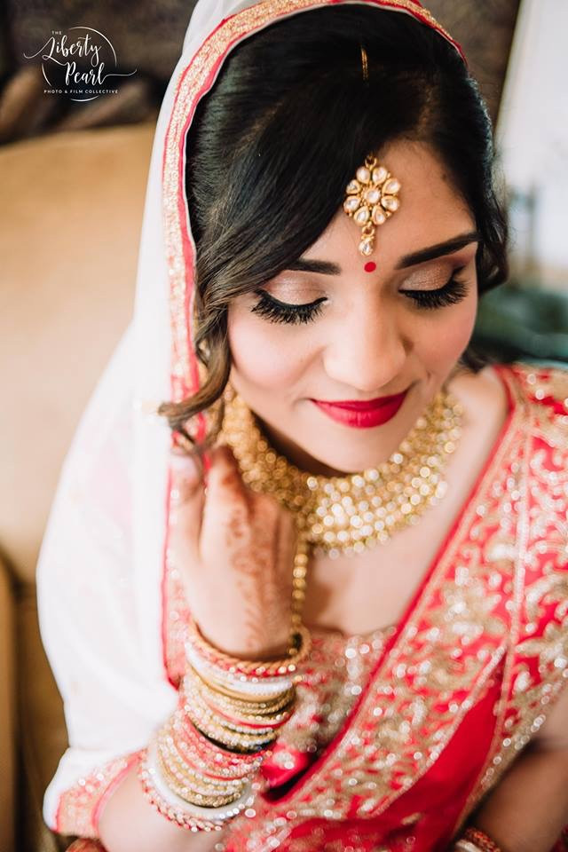 Indian bridal hair and makeup. - Make Me Bridal Artist: Katy Djokic - Wedding Hair & Makeup. Photography by: Liberty Pearl. #indianbride #indianwedding