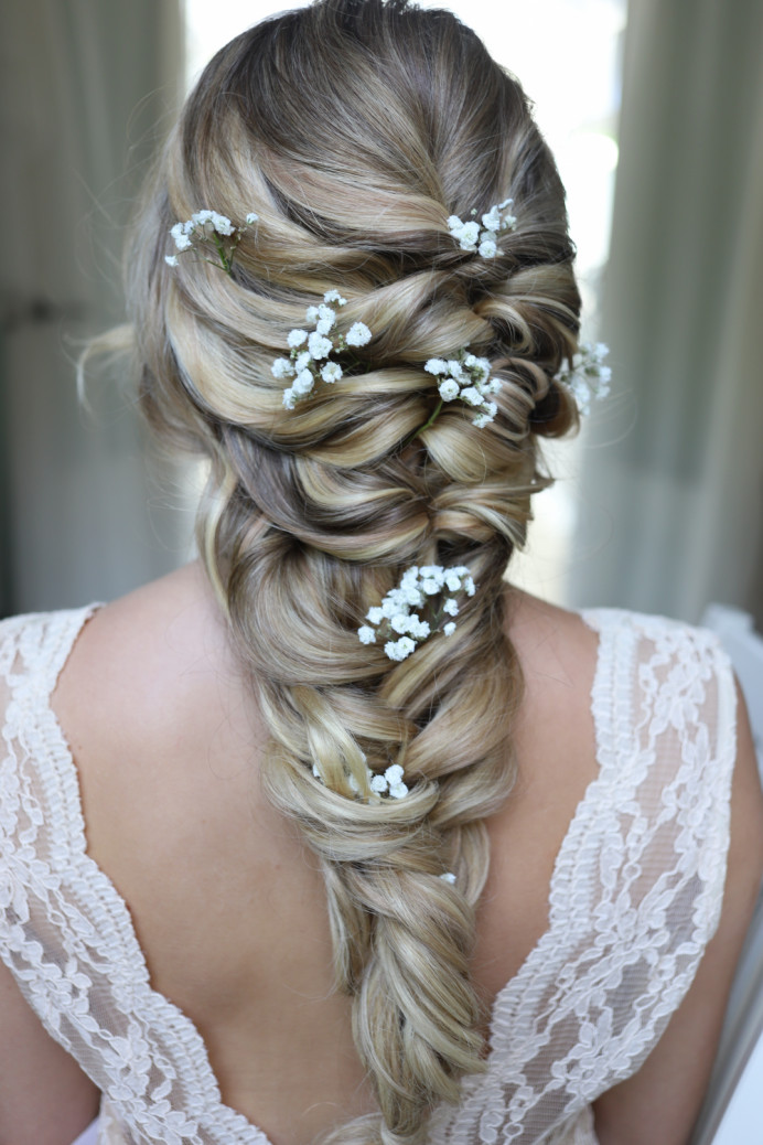 Mermaid Braid - Make Me Bridal Artist: Katy Djokic - Wedding Hair & Makeup. #fishtailbraid #bigplait #mermaidbraid