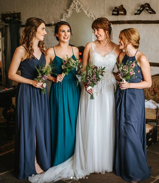 Bride and bridesmaids hair and makeup. They went for a relaxed boho vibe. - Make Me Bridal Artist: Katy Djokic - Wedding Hair & Makeup. Photography by: Blue Lily. #boho #vintage #glamourous