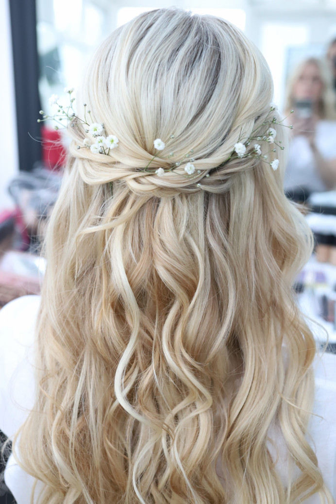 Boho Hair Half Up - Make Me Bridal Artist: Katy Djokic - Wedding Hair & Makeup. #boho #hairhalfup