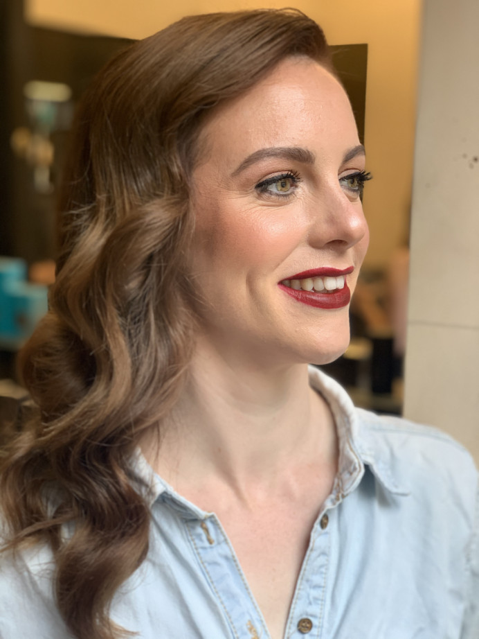 Glowing skin is always in! - Make Me Bridal Artist: Eleni Liatsou Make up. #eyeliner #vintagemakeup #vintagewedding #londonbride #classicbride #londonwedding #vintagelook #vintagebride #boldlipstick #naturalskin #redlip #glambride #bridalmakeup #flawlessbride #mattelip #definedmakeup #makeupartist