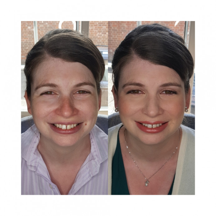 Bridesmaid before and after - Make Me Bridal Artist: Samantha Eaton Make-up. #classic
