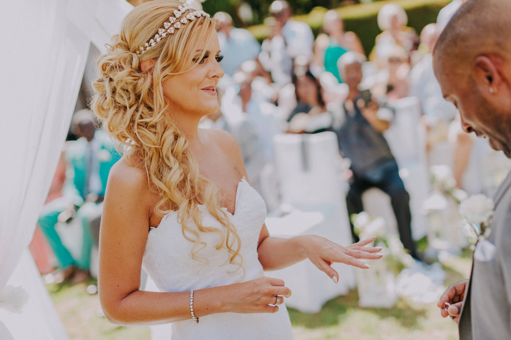 Another beautiful Cyprus wedding in Kyrenia. Temperatures again reached 46 degrees and make-up lasted 15 hours without any touch ups!! - Make Me Bridal Artist: Samantha Eaton Make-up. #glamorous #curls #cypruswedding